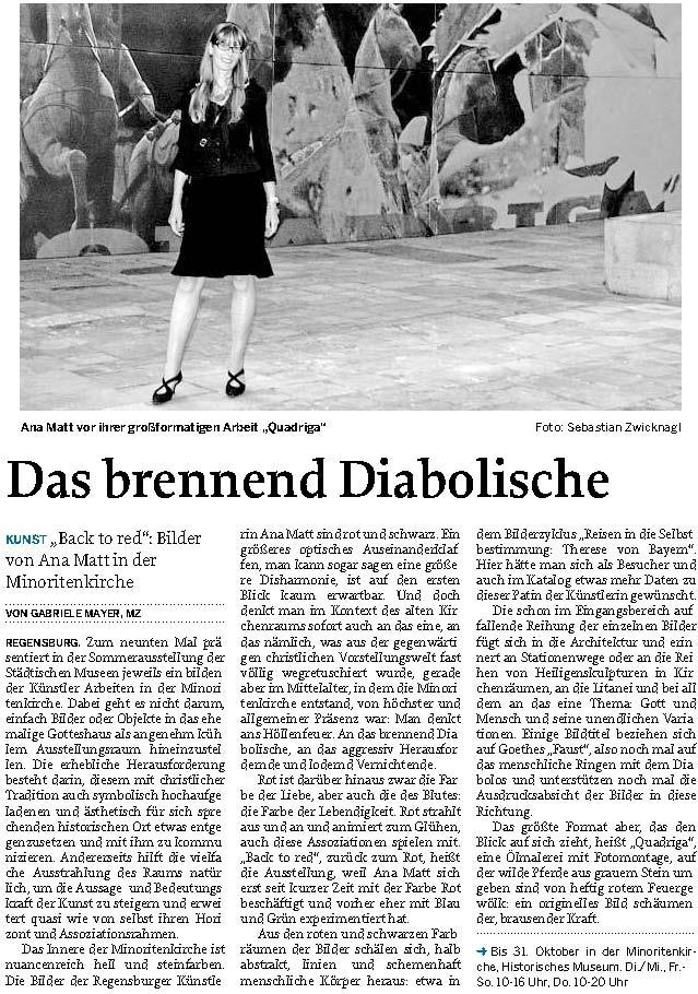 Presse zur Ausstellung back to red 2009